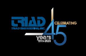 Triad Engineering, Inc. 45th Anniversary Logo
