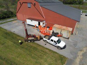 aerial photo of Triad drilling